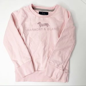 Harmont & Blaine Pink Girls Cotton Sweater